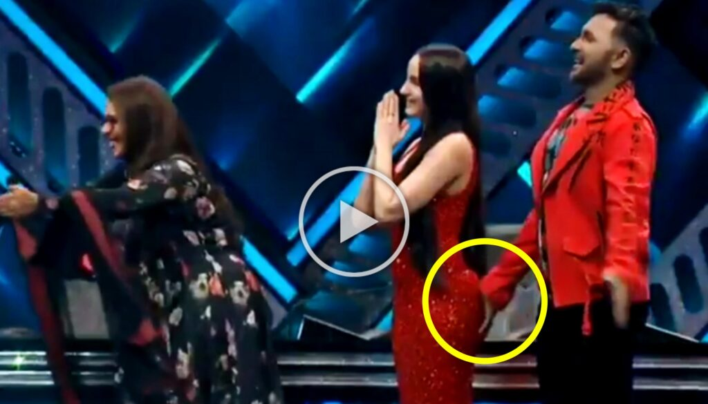 Nora Fatehi Ass Slapped by Terrance Lewis Viral video