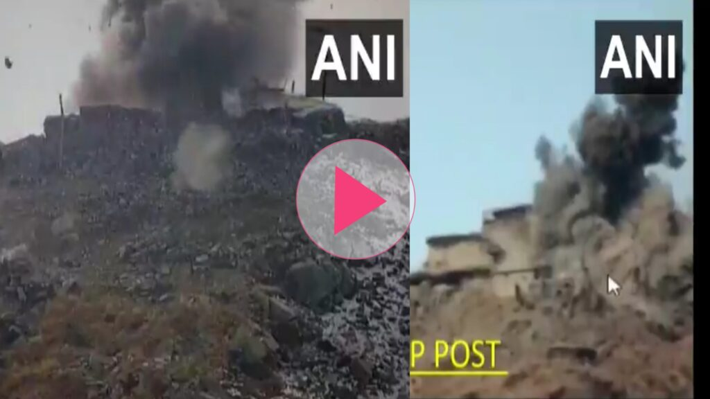 Indian army attacks Pakistan army bankers. bankers of the Pak army were crushed in counter attack of Indian army