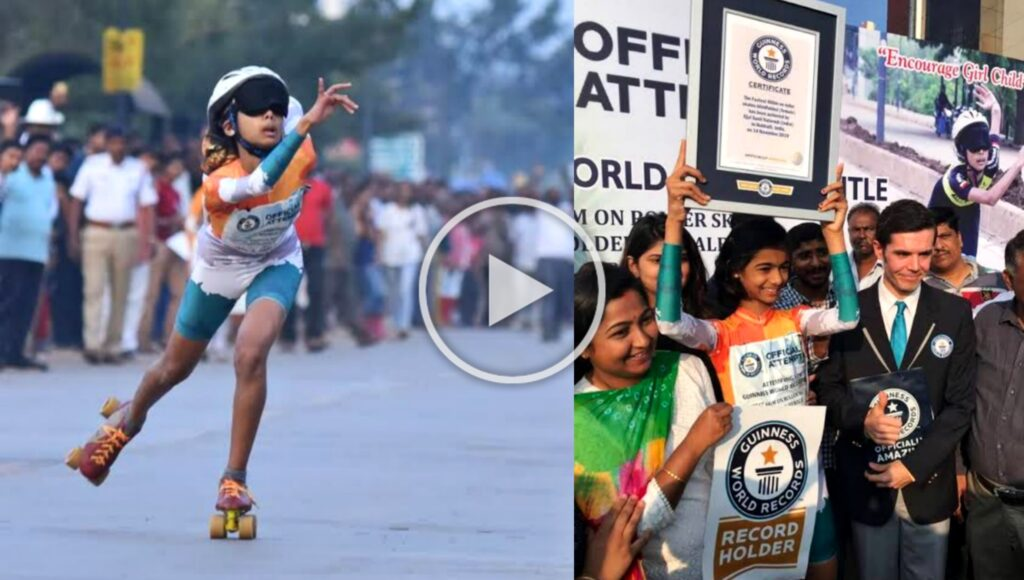 Fastest Female Skater Ojal Sunil Talavadi, has been named Guinness Book of World Record
