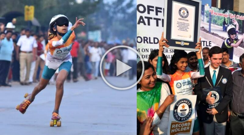 Fastest Female Skater Ojal Sunil Talavadi has been named Guinness Book of World Record