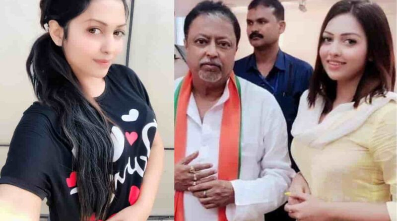 Pamela Goswami With BJP top leader Mukul Roy
