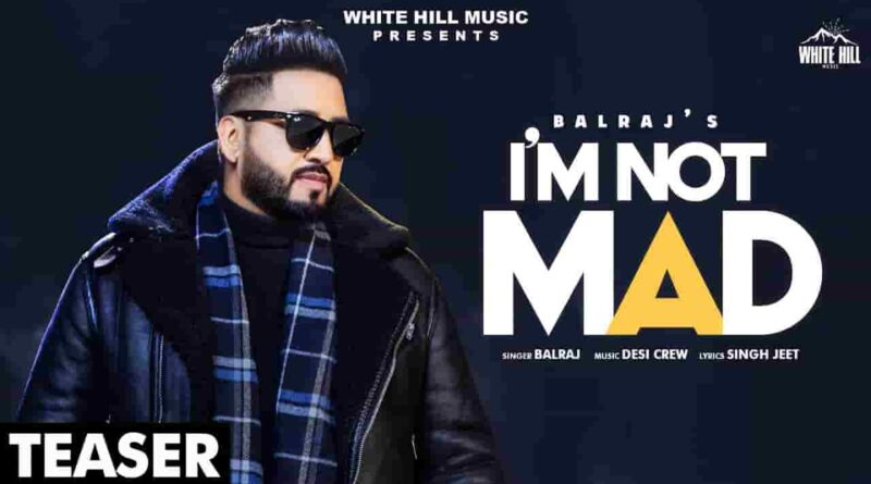 I'M NOT MAD LYRICS - BALRAJ | Desi Crew | Amardeep Phogat