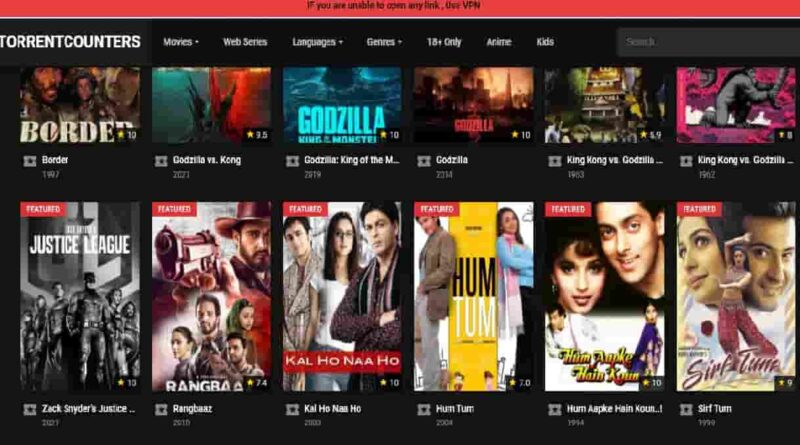 Torrentcounter Torrent Counter Movies Download Proxy Hindi dubbed Hollywood, Tamil, Telugu
